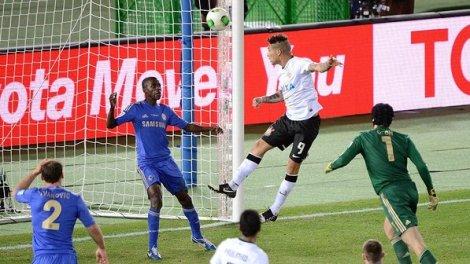 Guerrero na histórica vitória sobre o Chelsea, na final do mundial de Clubes no Japão.