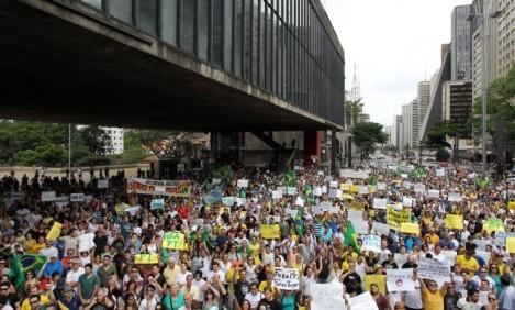 Manifestação na Paulista, em São Paulo
